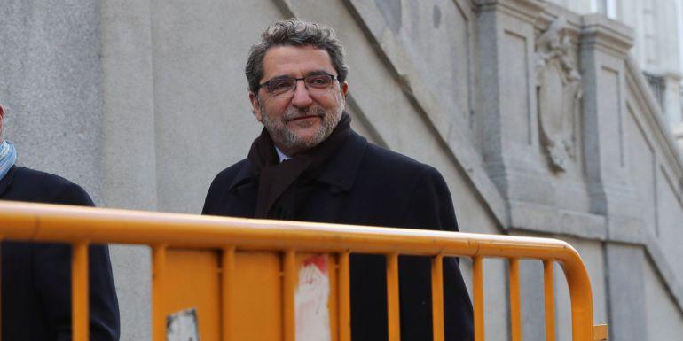 Antonio Gutiérrez Limones a su llegada al Tribunal Supremo en Madrid