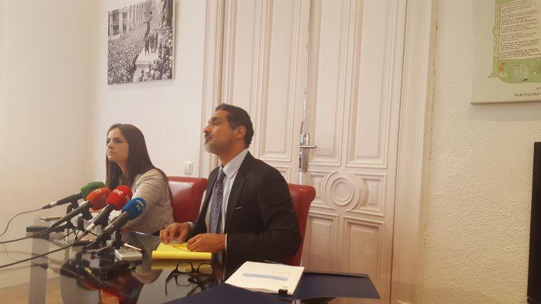 Los abogados Tamara Suju que ha presentado una denuncia ante el TPI contra el regimen de Nicolas Maduro por torturas y crimenes de lesa humanidad, y Juan Carlos Gutierrez abogado de Leopoldo Lopez, el disidente venezolano en arresto domiciliario.