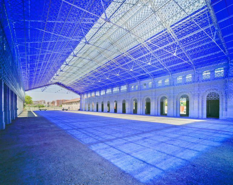 Recreación del proyecto para rehabilitar la antigua estación de Benalúa en alicante como sede de Casa Mediterráneo