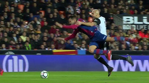 La jugada por la que Medié Jiménez señaló penalti