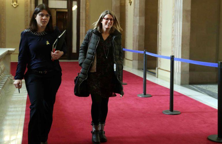 Las diputadas de Junts per Catalunya, Elsa Artadi y Gemma Geis
