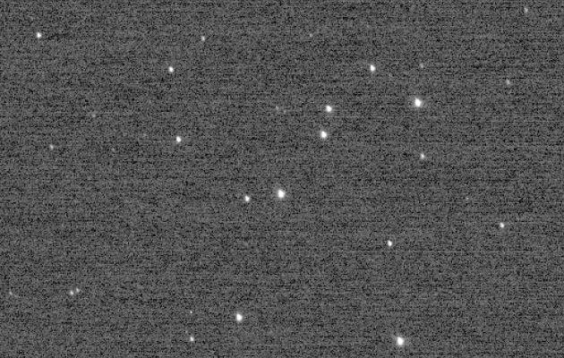 La imagen captada por New Horizons para calibrar la cámara.
