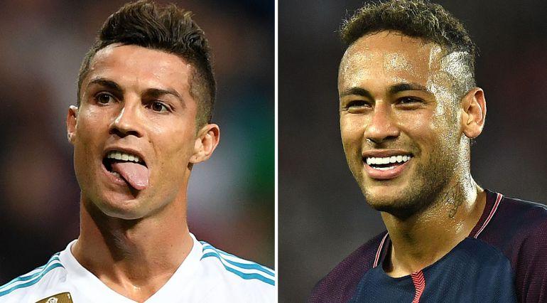 Primeros planos de Cristiano y Neymar