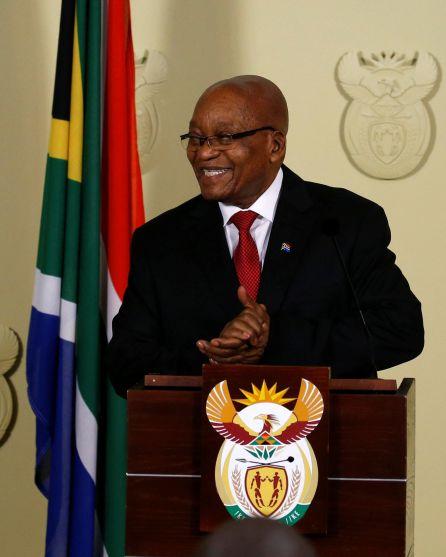 El presidente Jacob Zuma en Pretoria