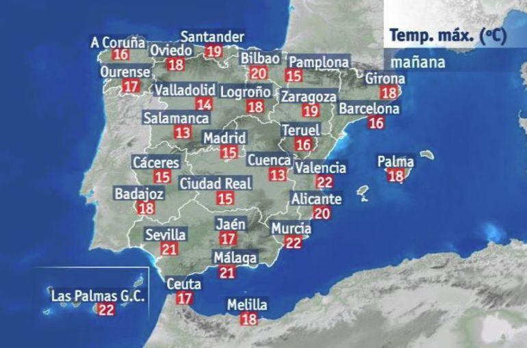 Temperaturas muy altas previstas para el jueves.