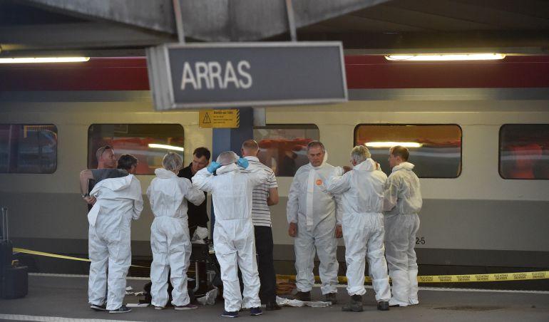 Imagen de archivo del intento de atentado en el tren Ámsterdam-París