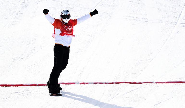 Regino Hernández gana el bronce para España en el boardercross de snowboard.