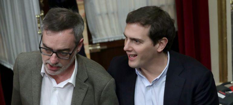 El líder de Ciudadanos Albert Rivera y el diputado de la misma formación José Manuel Villegas