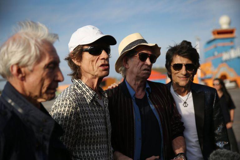 La banda inglesa a su llegada a Cuba en marzo de 2017