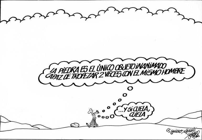 Viñeta póstuma publicada este viernes en la portada de 'El País'.