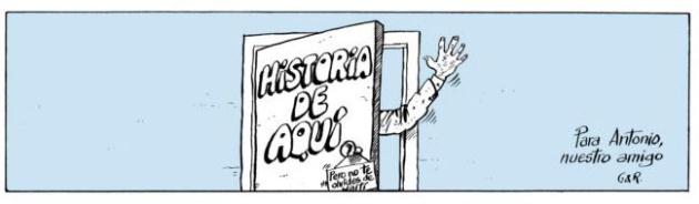 Viñeta en recuerdo de Forges de Gallego & Rey.