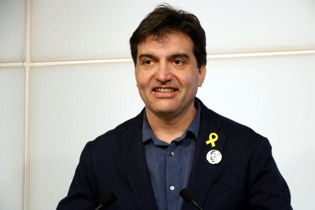 El portavoz de ERC, Sergi Sabrià, en rueda de prensa