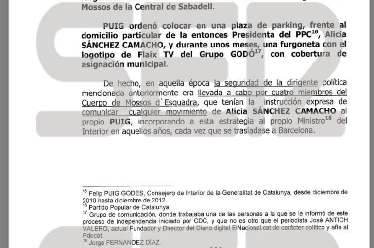 """El exministro del Interior Fernández Díaz fue """"vigilado"""" por los Mossos"""