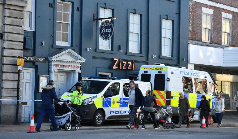 Zona acordonada por la Policía de Londres.