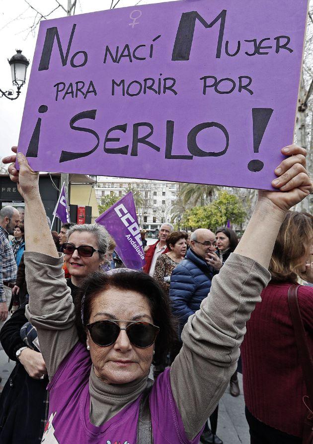Pancarta en Sevilla.