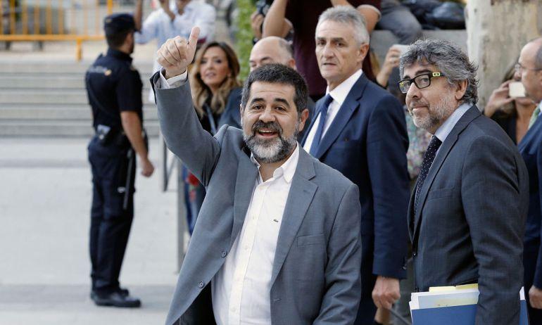 Jordi Sànchez, en un momento antes de su declaración en la Audiencia Nacional
