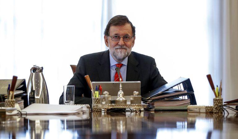 El presidente del gobierno Mariano Rajoy durante la reunión del Consejo de ministros del pasado viernes.