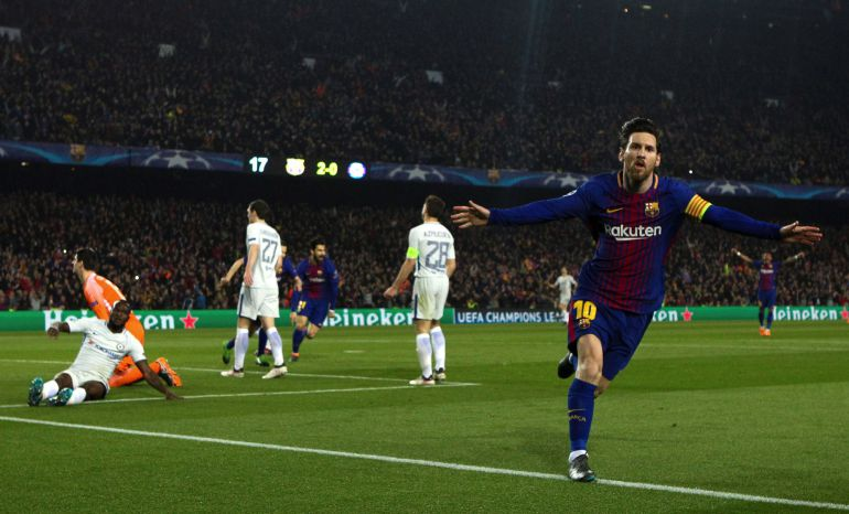 Messi celebra su segundo gol.