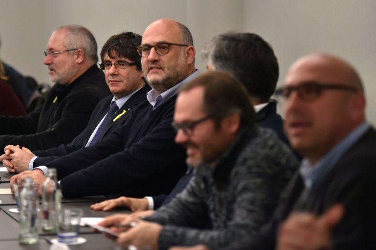 Reunión del grupo parlamentario de JxCat con Puigdemont en Bruselas