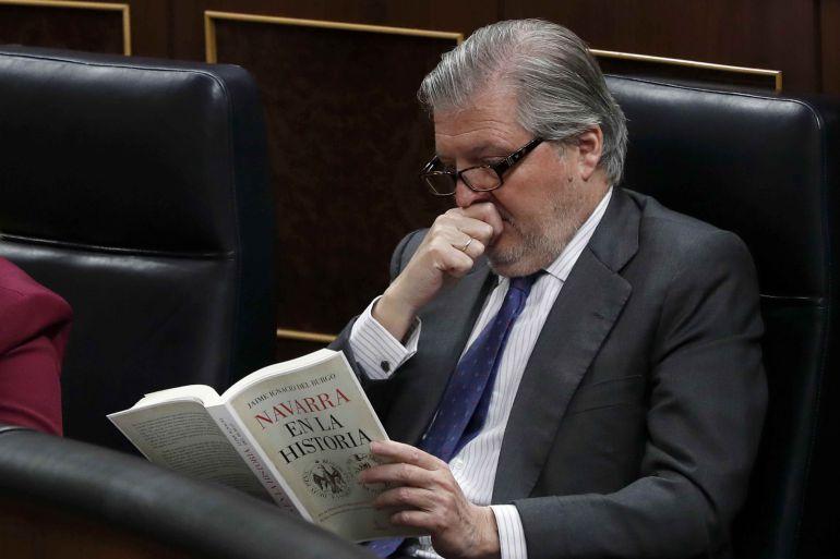 El ministro de Educación, Íñigo Méndez de Vigo, durante la sesión plenaria del Congreso