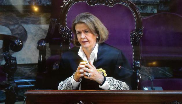 La fiscal Garrido durante su discurso