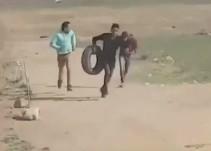 Un vídeo muestra la muerte de un palestino tiroteado por la espalda durante los disturbios de Gaza