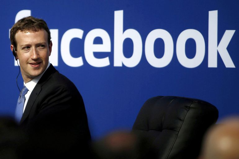 Mark Zuckerberg, CEO en Facebook, en un acto en California