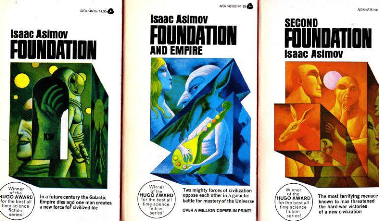 La trilogía de libros de Asimov.