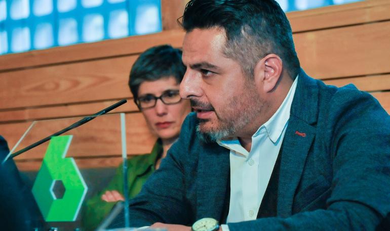 Jalis de la Serna durante la presentación de la T2 de 'Enviado especial'