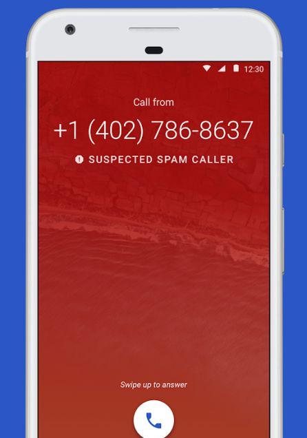 Google detecta las llamadas spam.
