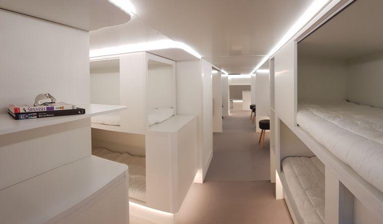 Airbus muestra un concepto de los módulos para pasajeros.