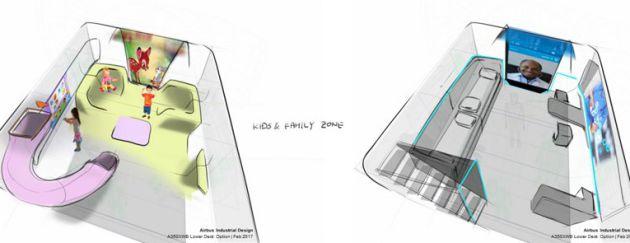Así sería la zona infantil y el centro médico.