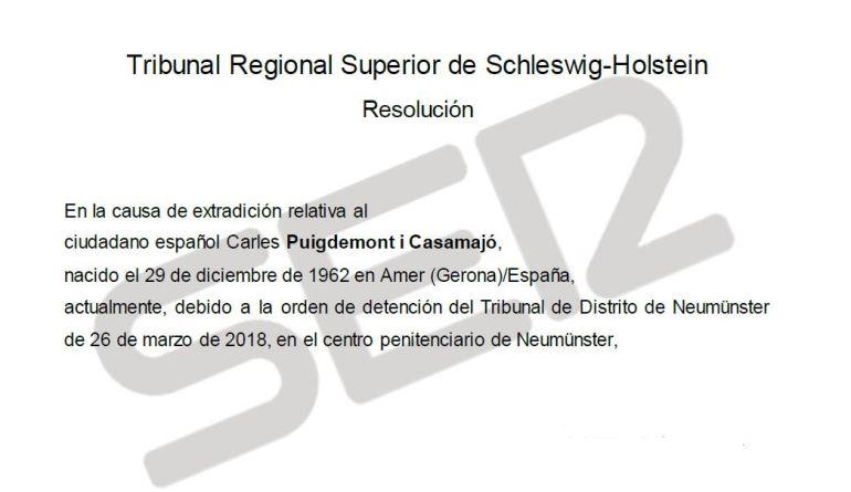 La resolución del Tribunal alemán en su traducción al castellano