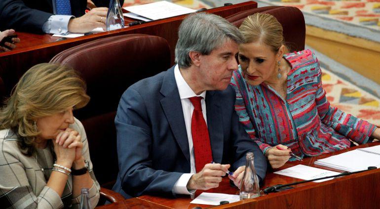 Ángel Garrido y Cristina Cifuentes en la Asamblea el pasado 4 de abril