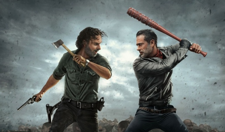 Rick y Negan en 'The Walking Dead'