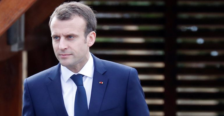 Emmanuel Macron acude a un acto institucional en Francia