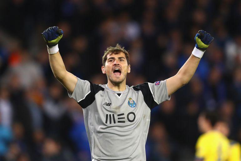 Casillas celebra en una imagen de archivo