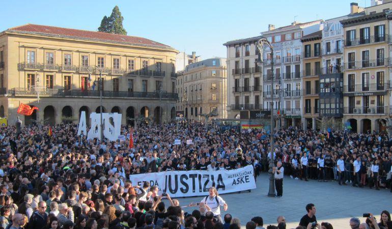 """Manifestación en Pamplona para pedir """"justicia"""" en el 'caso Alsasua'"""
