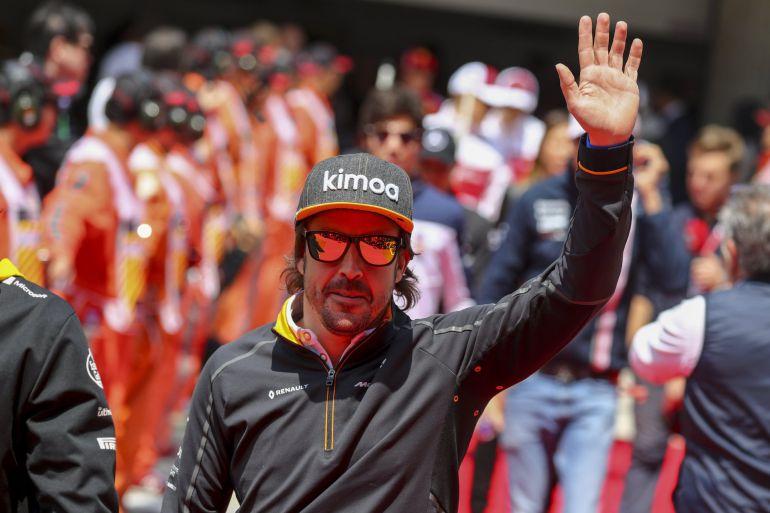 Fernando Alonso, antes del GP de China de F1.