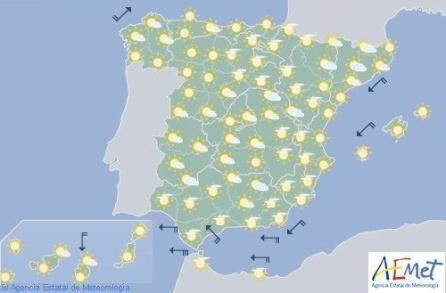 El sol será también protagonista el miércoles 18 de abril.