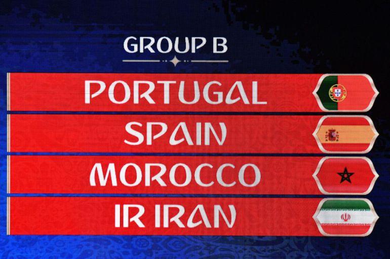 Grupos que participan en el grupo B del Mundial de Rusia