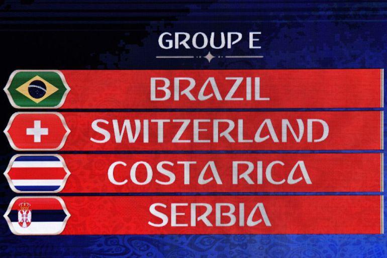 El Grupo E lo forman Brasil, Suiza, Costa Rica y Serbia