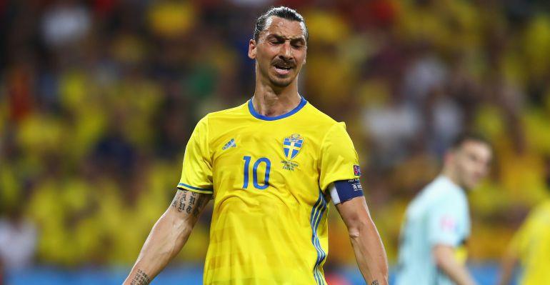 Zlatan Ibrahimovic, durante uno de sus últimos encuentros con la selección de Suecia