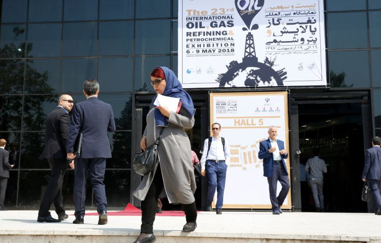 Sede de la empresa de gas y petróleo iraní en Teherán.