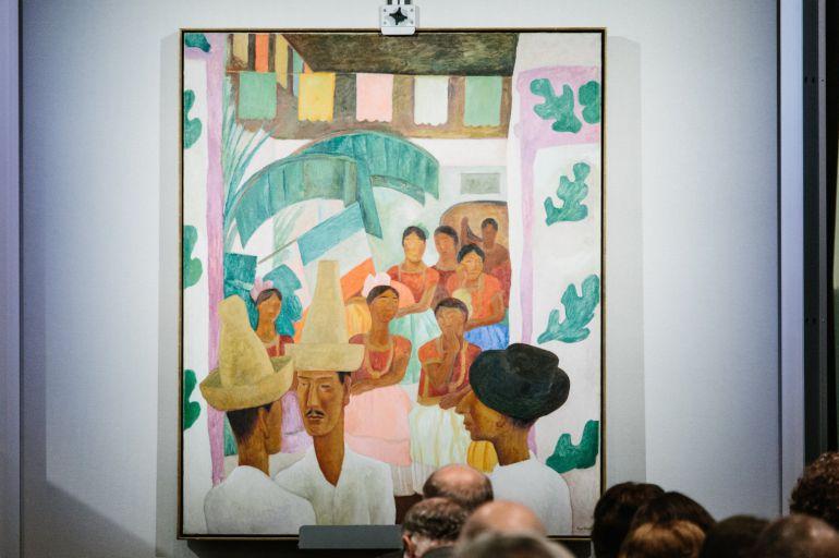 La pintura 'The Rivals' del artista Diego Rivera.
