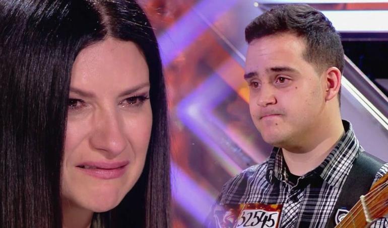 Laura Pausini en las últimas audiciones de 'Factor X'