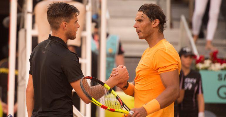 Rafa Nadal felicita a Dominic Thiem por su victoria