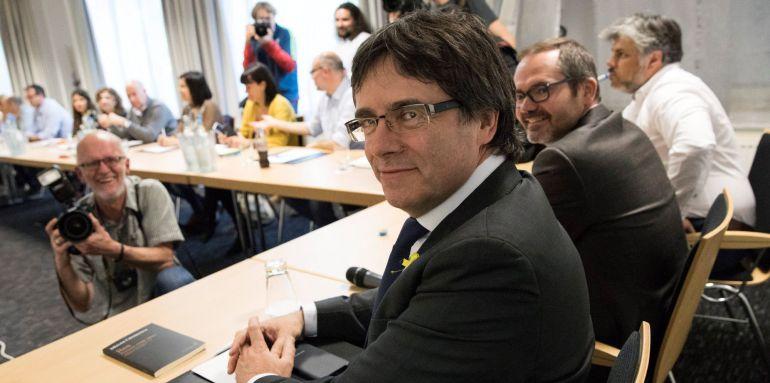 Imagen de Carles Puigdemont en Berlín