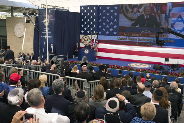 Discurso del primer ministro de Israel, Benjamin Netanyahu, en la inauguración de la embajada de EEUU en Jerusalén.
