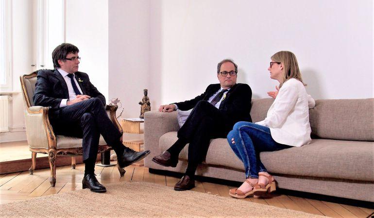 Carles Puigdemont, Quim Torra y Elsa Artadi, en una fotografía de archivo.